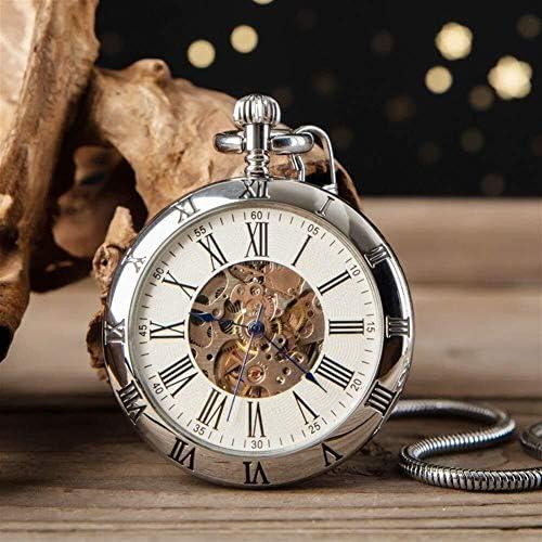 キャップレス機械式懐中時計懐中時計ペンダントウォッチ男性と女子学生ローマハイエンドクリエイティブギフト表では、色名:1 (Color : 3)