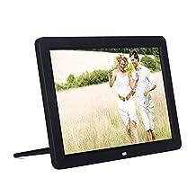 "Minidiva 12"" 1080P HD LED Digital Photo Frame(16:9) - Multifunction Digital Picture Display 1280*800 with Max 32GB Storage(Black)"