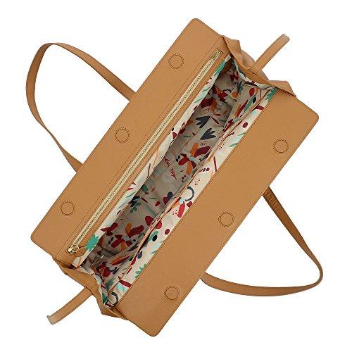 grande Peau avec en souple bandoulière fermeture femme poignées cuir capacité DUDU à ajustables pour Élégant et Sac magnétique qfPWgpTwt