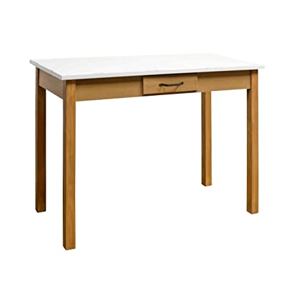 Amazon.com: VIP White Enamel TOP Wood Table 42\