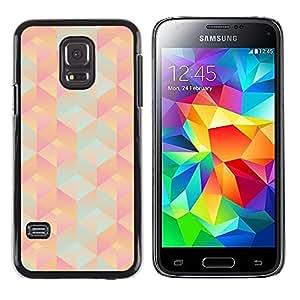 Samsung Galaxy S5 Mini (Not S5), SM-G800 , JackGot - Colorful peau Imprimé protection dur Retour Housse Shell (Motif 3D Polygon Peach Rose Teal)