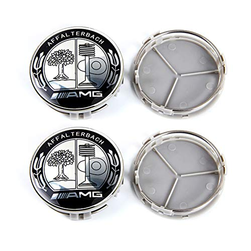Mercedes Amg Wheel - YIKA 4pcs for Mercedes 75mm Hub Cap Cover Car Logo Emblem Wheel Center for Benz A B C CLA CLS G M R S Center Cap Badge(Apple Tree AMG)