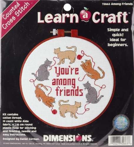 Dimensions Learn-A-Craft Among Friends Cntd X-Stitch Kit (Cross Stitch Cntd Kit)