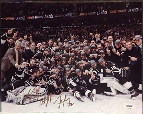Jeff Carter Autographed Photograph - 2012 Champs 11x14#Z05196 - PSA/DNA Certified - Autographed NHL Photos