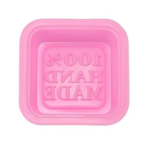 Moldes de silicona para jabón, diseño cuadrado 3D, hecho a mano, molde de