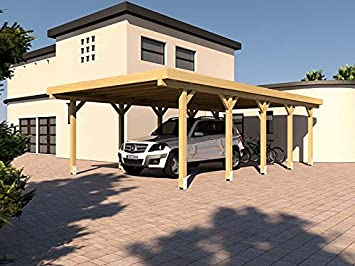 400 X 800 Cm Flat Roof Carport Flat Roof Carport Kit Silverstone Xv
