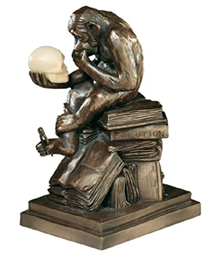 Years of the Monkey Darwin's Ape Sculpture Gift Statue Luck Decor Office Library .#GH45843 3468-T34562FD410922 ()