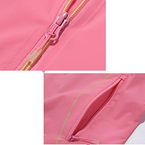 Zhuhaitf Alta calidad Outdoor Adult Womens Athletic Quick-dry Lightweight Hooded Zipper Jacket Tops Pink