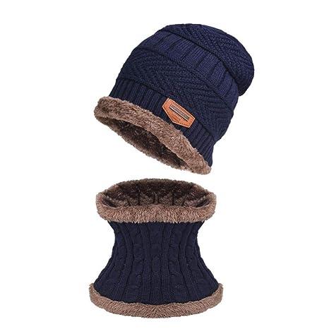 WHLDKCY Sombrero de Punto Gorro de Punto Hombre s Otoño Invierno ...