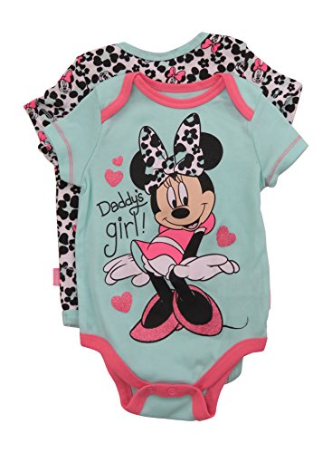 Onesies For Teenage Girls (Disney Minnie Mouse Big Smile Dress Up Baby 2 Pack Bodysuit)