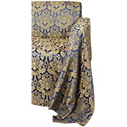 Editex Home Textiles Loretta Furniture Throw Slip Cover for Loveseat, 70 by 120-Inch, Navy