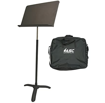 Professional Sheet Music Stand Band, Orchestra, Choir or School Adjustable  Height Music Holder with Bag