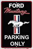 Ford Mustang Parking Only Sign Black