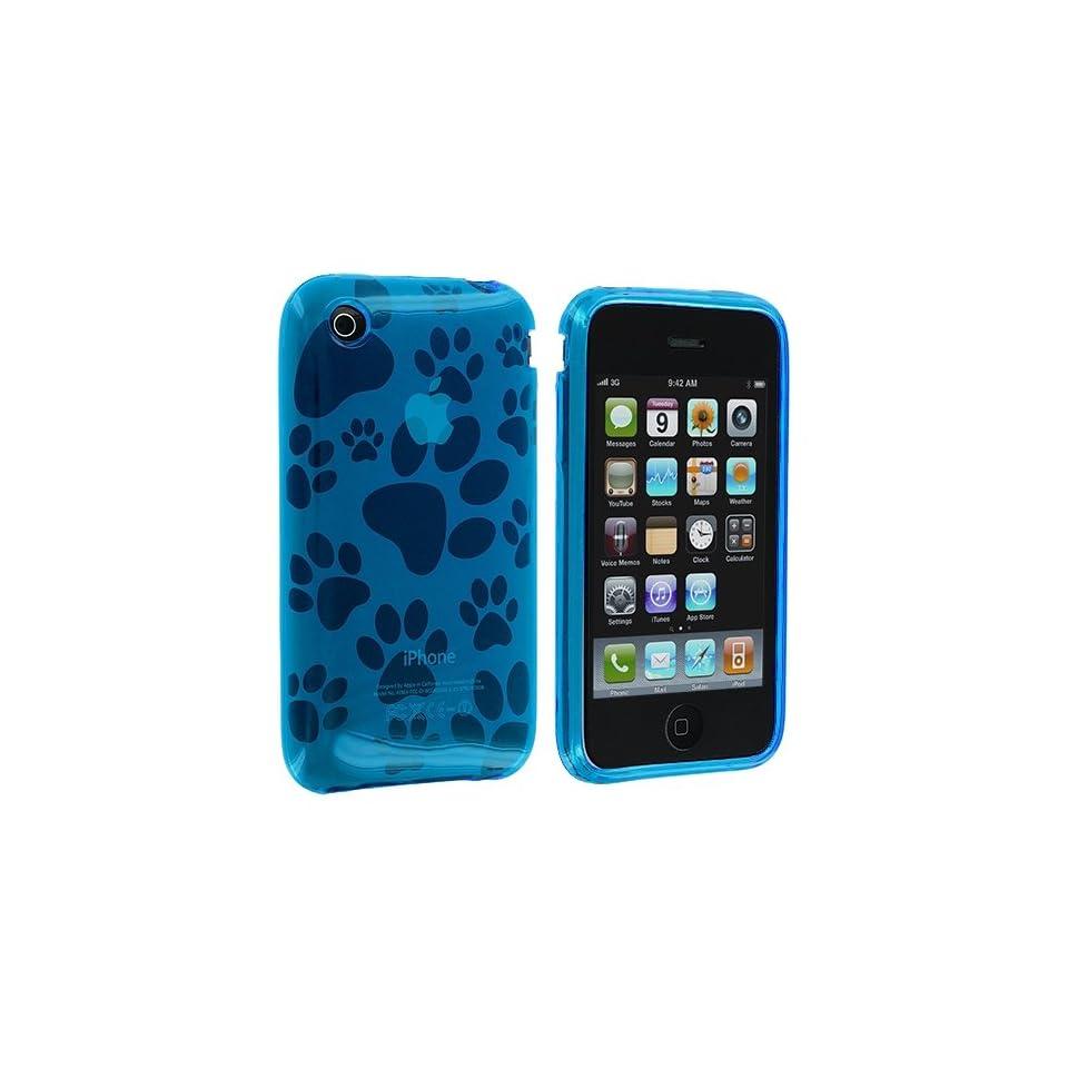 Electromaster(TM) Brand   Light Blue Dog Paw TPU Rubber Skin