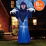 Joiedomi Halloween 8 FT Inflatable Spooky Warlock with Build-in LEDs Blow Up Inflatables for Halloween Party Indoor, Outdoor, Yard,...