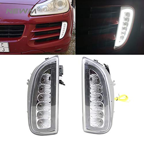 Clear LED DRL Daytime Running Lights Turn Signal Lamp Assy For 06-10 C-ayenne OEM Fit DRL Assembly Led Light