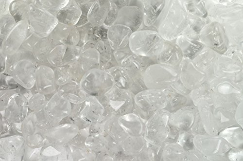 Fantasia Materials: 1 lb Tumbled Crystal Quartz AAA Grade Stones from Brazil - Large 1
