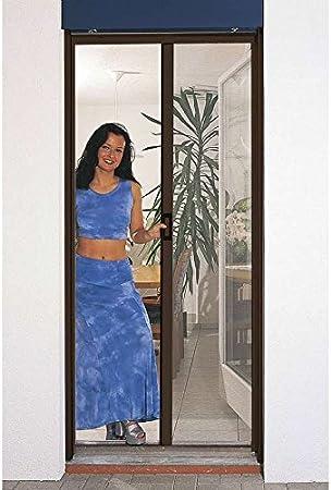 Provence Outillage - Mosquitera enrollable para puerta (aluminio), color marrón oscuro: Amazon.es: Hogar