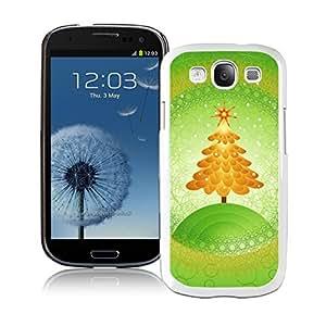 Special Custom Made Orange Christmas Tree Green Background White TPU Samsung Galaxy S3 Case,Case For Samsung I9300