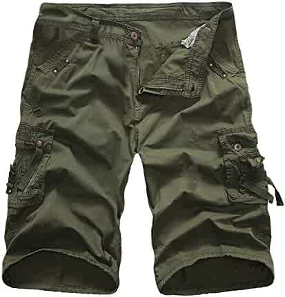 5dd16bf81e81 iLXHD Men's Summer Casual Pure Color Outdoors Pocket Beach Work Trouser  Cargo Shorts Pant Sweatpants