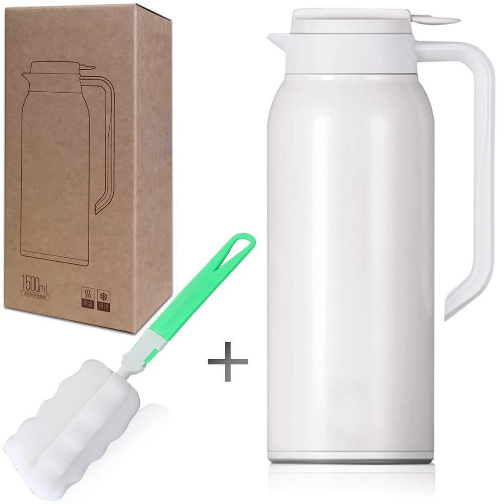 NORTHOME Thermal Carafes For Coffee Vacuum Mug 1.5 Liter or 50oz (50-OZ, White)