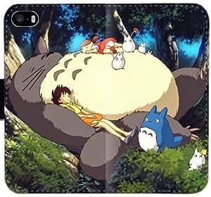 Linda Mi Vecino Totoro caja del cuero L9N1H Funda iPhone 4 4S Funda Flip Case 0850Rj único teléfono funda protectora