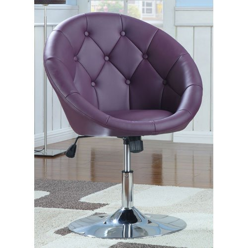 Coaster 102581 Round Back Swivel Purple