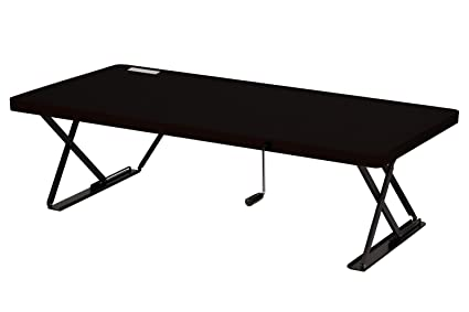 Halter Manual Adjustable Height Table Top Sit / Stand Desk (Black)