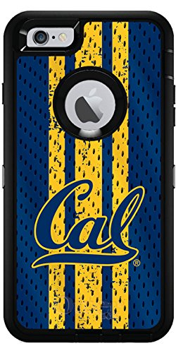 UC Berkeley - Jersey Design on Black OtterBox Defender Series Case for iPhone 6 Plus and iPhone 6s Plus