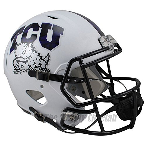 TCU Horned Frogs Officially Licensed NCAA Speed Full Size Replica Football Helmet by Riddell