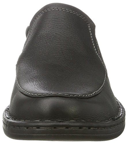 Clarks Kyros Free, Mocasines para Hombre Negro (black Tumbled Leather)