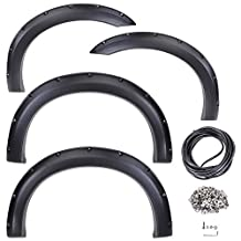 Yescom Automotive Fender Flares for 1999-2007 FORD F-250/ F-350 SUPER DUTY 4pcs w/ Rubber Seal Strip