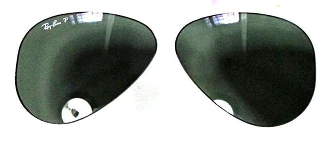 23cc080a074ac Ray-Ban LENTI AVIATOR CALIBRO 55 COLORE 58 G15 VERDE POLARIZZATO GREEN  POLARIZED …