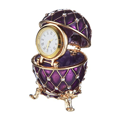 Russian Faberge Style Egg / Trinket Jewel Box Grid for sale  Delivered anywhere in USA