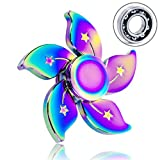 Fidget Spinner, ALOOK Delta Fidget Spinners Bauhinia Flower Hand Spinner Toy EDC Focus Stress Reducer Toy Perfect for Girl