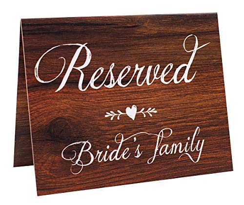 reserved signs for wedding rustic buyer's guide