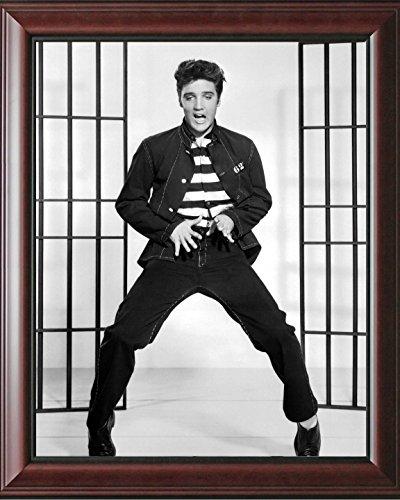 - 16 x 20 Wood Framed Print Elvis Presley In Jail House Rock