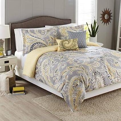 Amazon Com Better Homes And Gardens 5 Piece Bedding Comforter Set