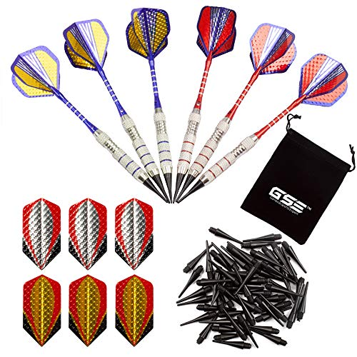 GSE Games & Sports Expert Soft Tip Darts for Electronic Dart Board. 60 of Free Dart Tips & Storage Bag Included (Professional - 18 Grams/6 Pack) ()