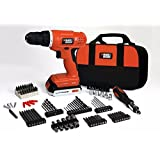 Black & Decker 20V Lithium Cordless Drill Kit with 100-pc Accessories