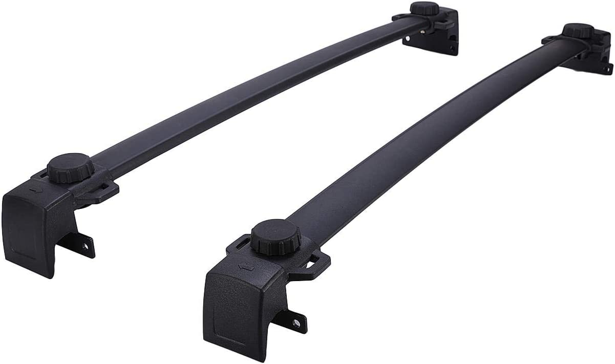Aluminum Cargo Carrier Raggage Rack with Side Rails AUXMART Roof Rack Cross Bars Replacement Rooftop Rail Crossbars System Fit for 2017-2019 Jeep Compass MP New Body Style