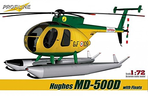 Profiline 1:72 Hughes MD-500 D with Floats Plastic Kit #PL7013