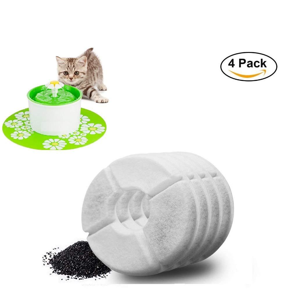SAGESSE Trinkbrunnen für Katzen und Hunde Filter Ersatzfilter Trinkbrunnen für Pet Trinkbrunnen Für KatzenTrinkbrunnen Water Filters(4 Pack)