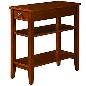 Amazon.com: Narrow End Table for Small Places with Drawer ...