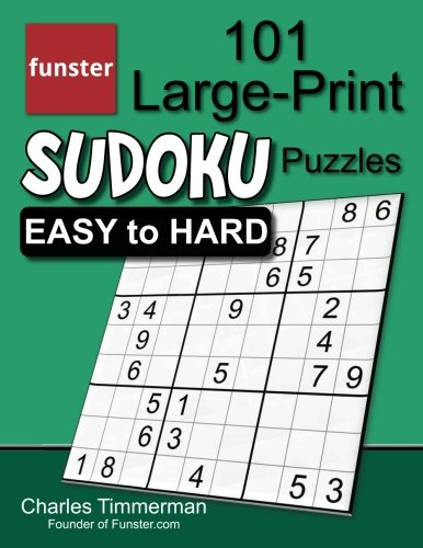 Funster Large Print Sudoku Puzzles Easy product image