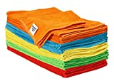 #4: S&T Bulk Microfiber Kitchen, House, & Car Cleaning Cloths - 25 Pack, 11.5