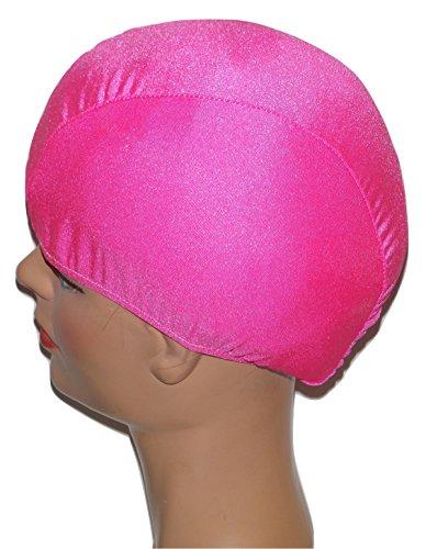 Extra Large Neon Pink Lycra Swim Cap (XL)
