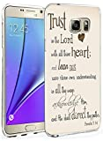 Galaxy Note 5 Case Ultra Slim Fit Trust in the Lord with All Thine Heart and Lean not unto thine Own Understanding Proverbs 3:5.6