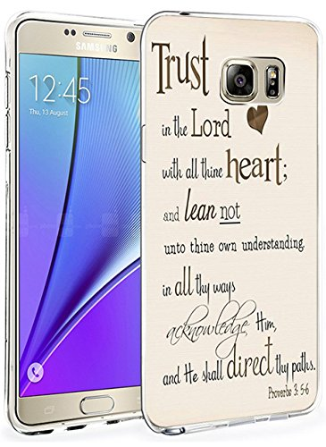 Galaxy Note 5 Case Ultra Slim Fit Trust in the Lord with All Thine Heart and Lean not unto thine Own Understanding Proverbs 3:5.6 ()