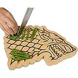 Game Of Thrones House Stark Bamboo Cutting Board   Stark Dire Wolf Sigil  Motif   10u201d X 7.5u201d